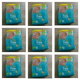 پوشک پریما ترک سایز 4_45تایی تعداد  6 بسته پیک رایگان